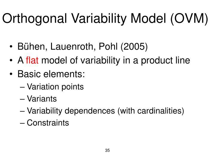 Orthogonal Variability Model (OVM)