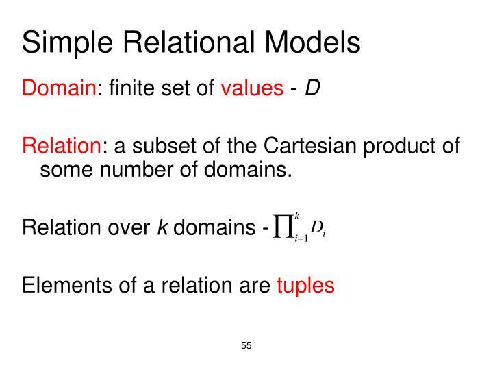 Simple Relational Models