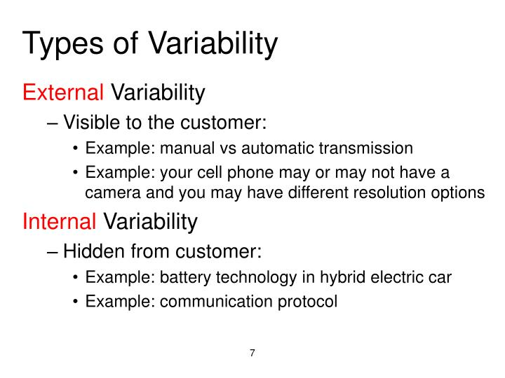 Types of Variability