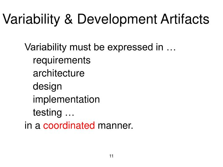 Variability & Development Artifacts