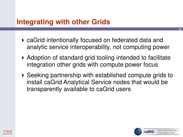 Integrating with other Grids