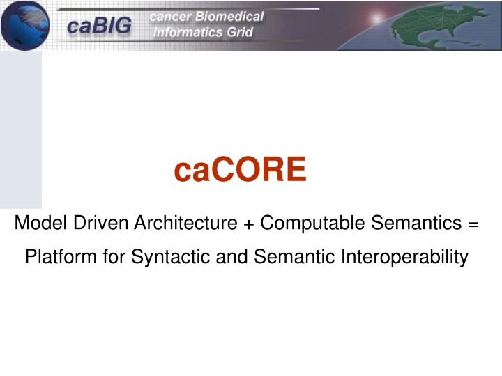 Model Driven Architecture + Computable Semantics =