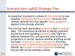scenario from cabig strategic plan