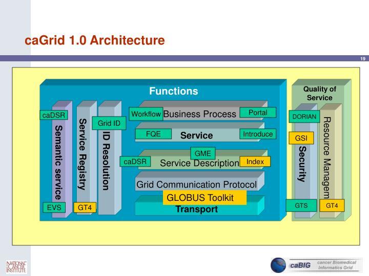 caGrid 1.0 Architecture