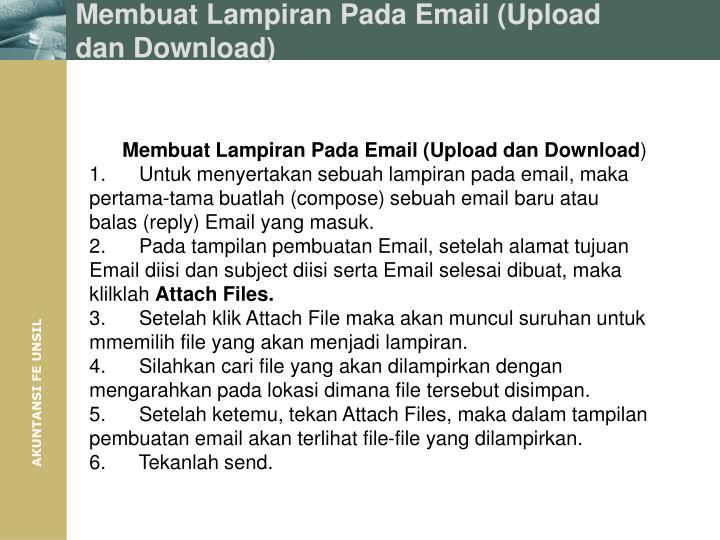 Membuat Lampiran Pada Email (Upload dan Download)