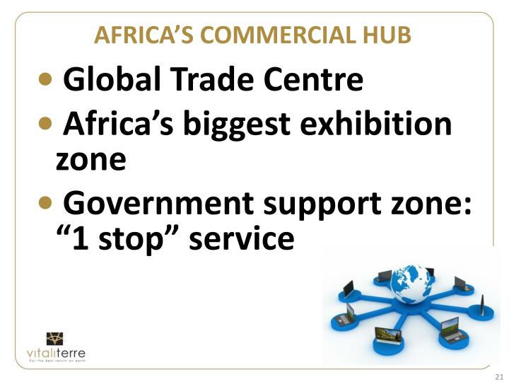 AFRICA'S COMMERCIAL HUB