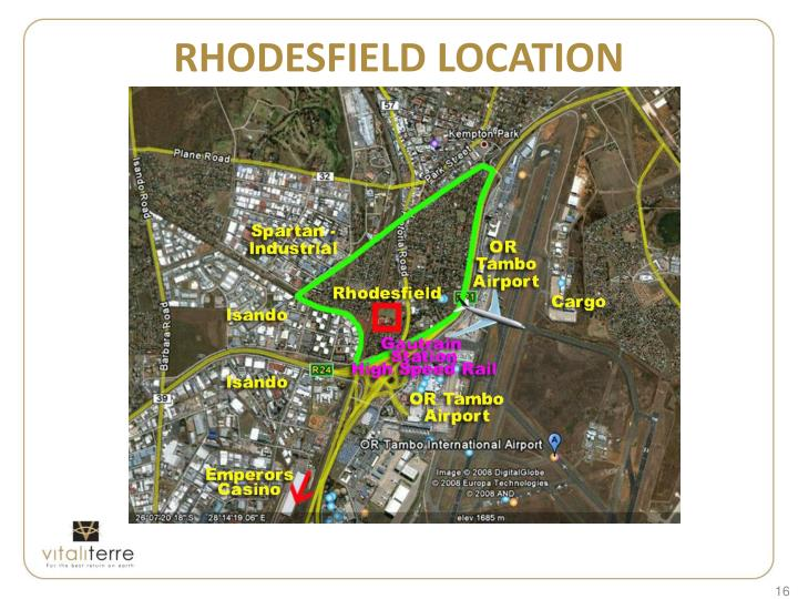 RHODESFIELD LOCATION