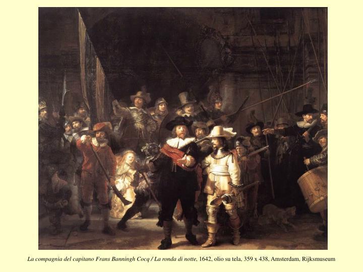 La compagnia del capitano Frans Banningh Cocq / La ronda di notte