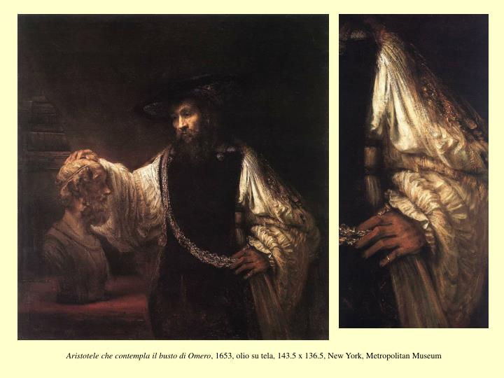 Aristotele che contempla il busto di Omero