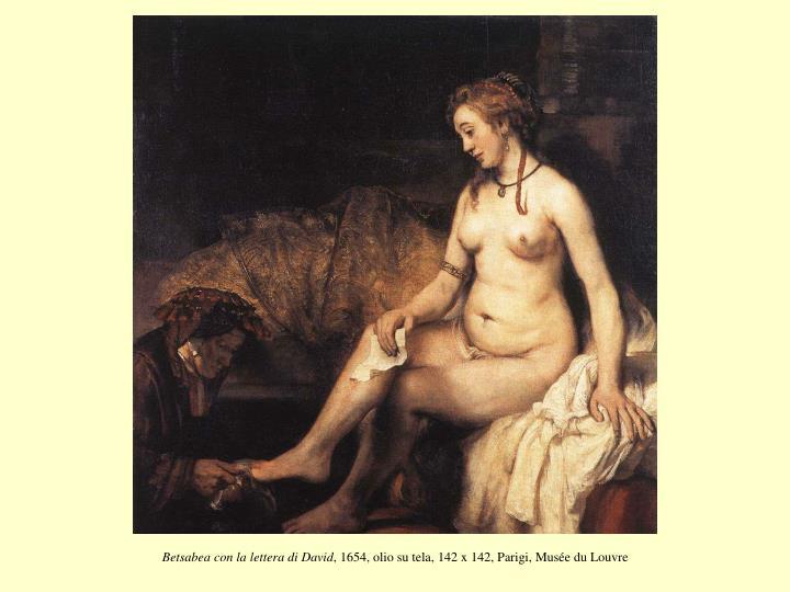 Betsabea con la lettera di David