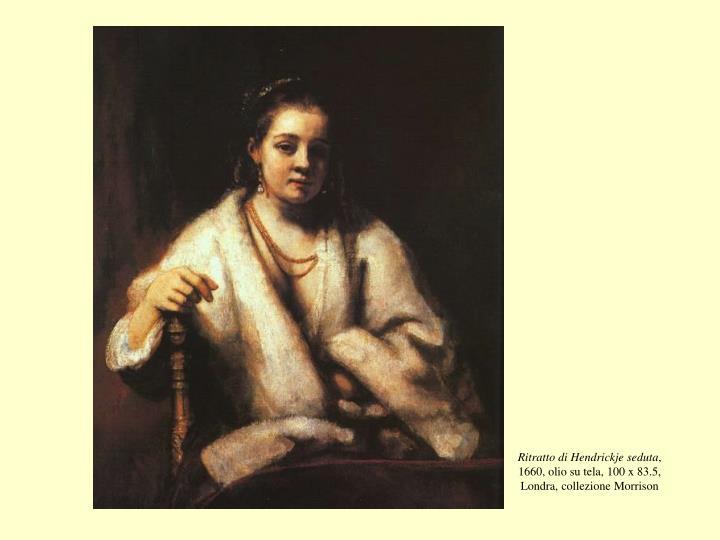 Ritratto di Hendrickje seduta