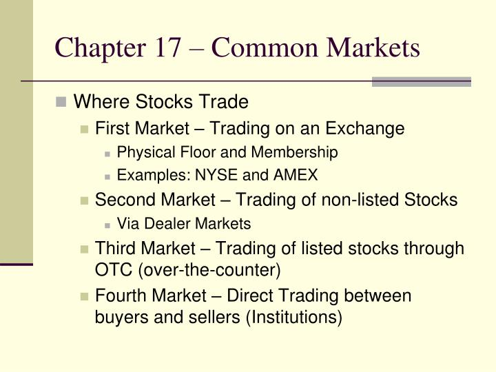 Chapter 17 common markets