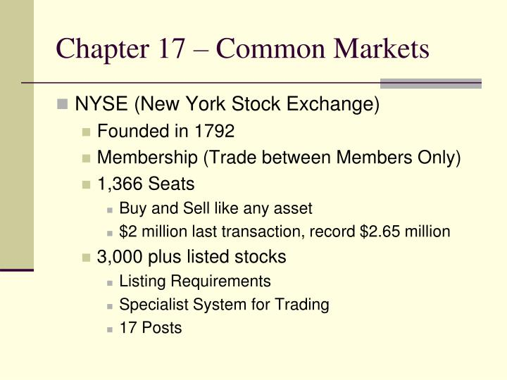 Chapter 17 common markets1