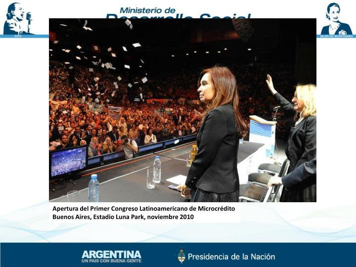 Apertura del Primer Congreso Latinoamericano de Microcrédito