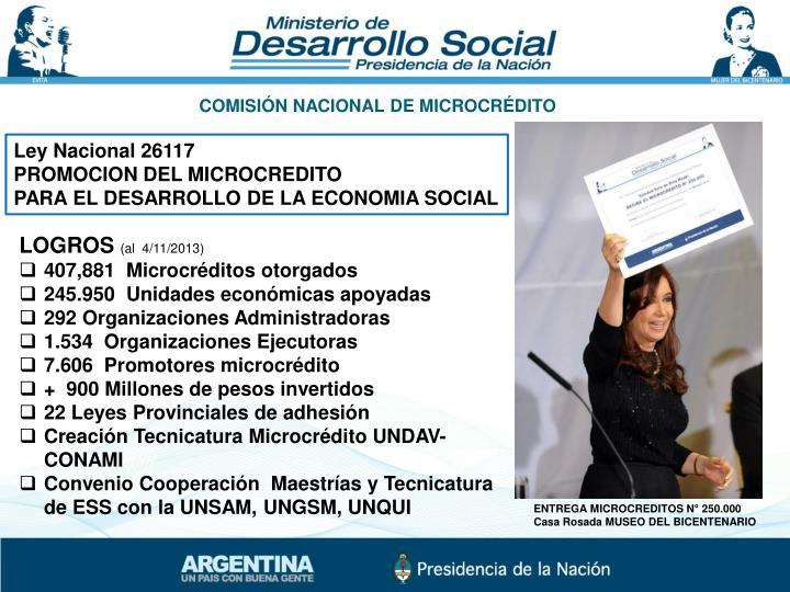 COMISIÓN NACIONAL DE MICROCRÉDITO