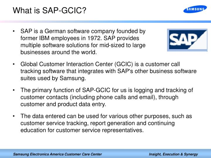 What is sap gcic