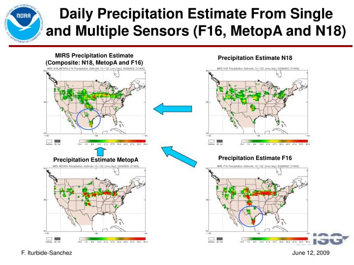 Daily Precipitation Estimate From Single and Multiple Sensors (F16, MetopA and N18)