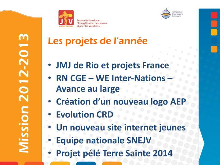 JMJ de Rio et projets France