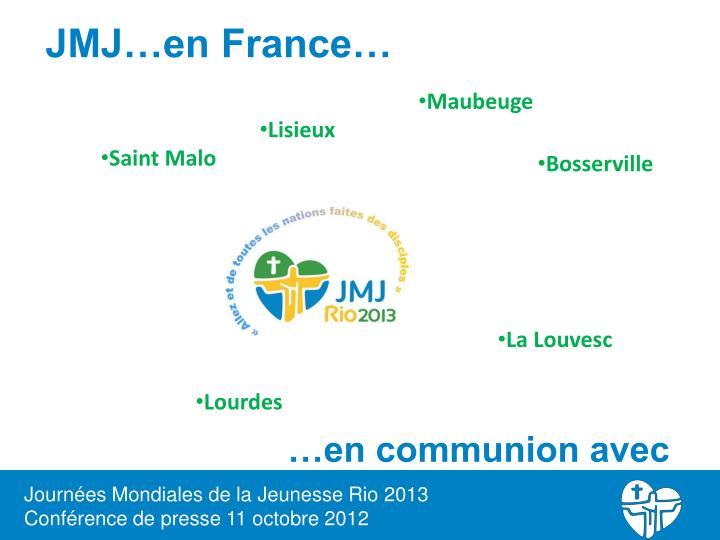 JMJ…en France…