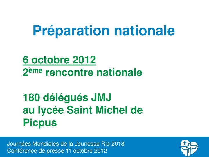 Préparation nationale