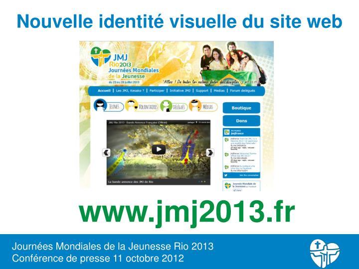 Nouvelle identité visuelle du site web