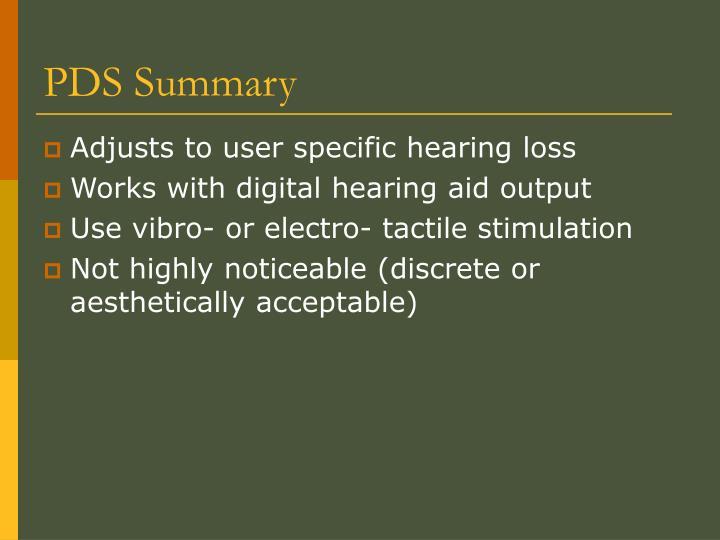 PDS Summary