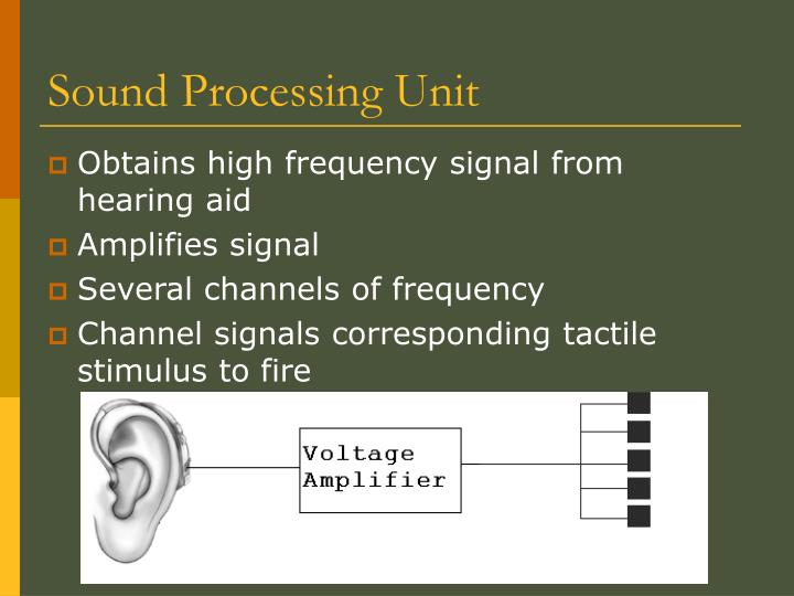 Sound Processing Unit
