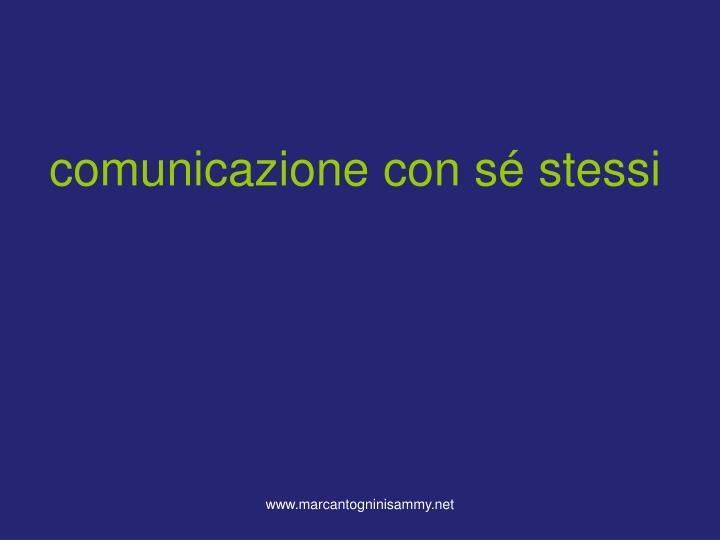 comunicazione con sé stessi