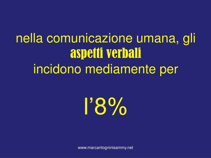 nella comunicazione umana, gli