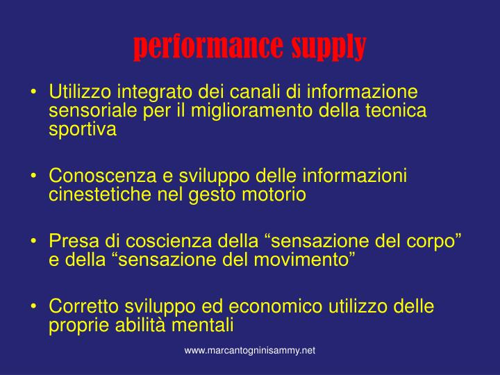 performance supply