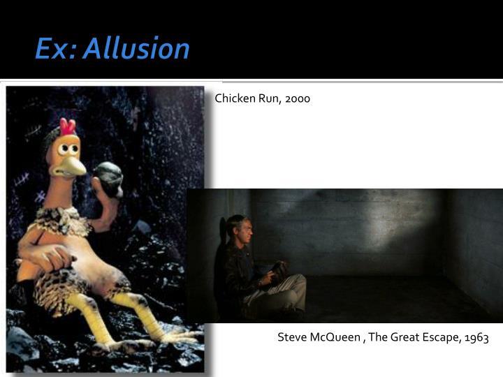 Ex: Allusion