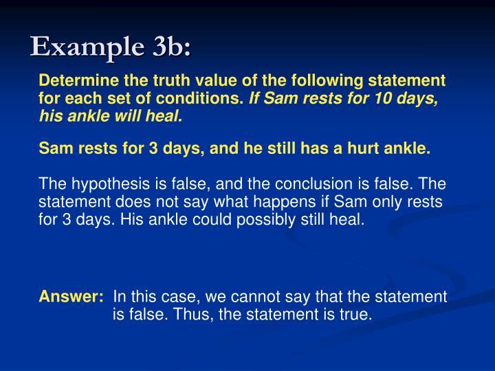 Example 3b: