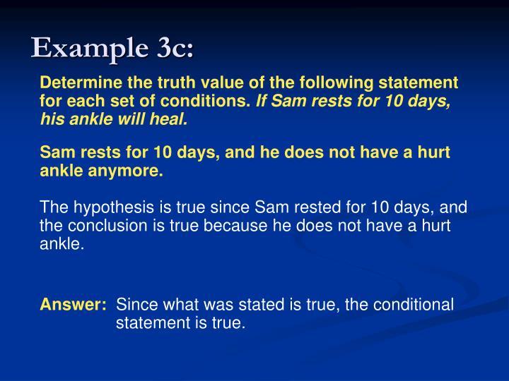 Example 3c: