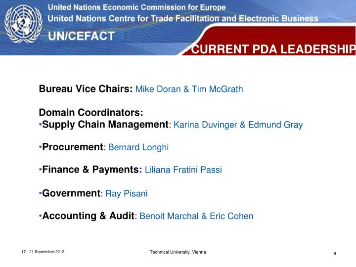 Bureau Vice Chairs: