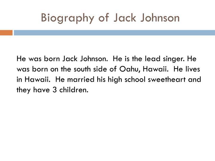 Biography of Jack Johnson