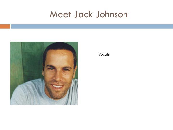 Meet Jack Johnson
