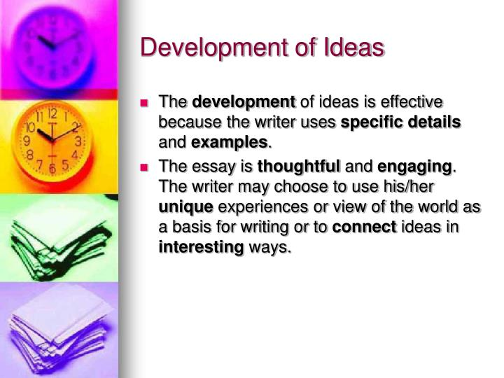 Development of Ideas