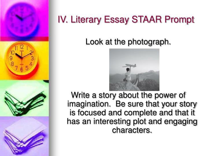 IV. Literary Essay STAAR Prompt