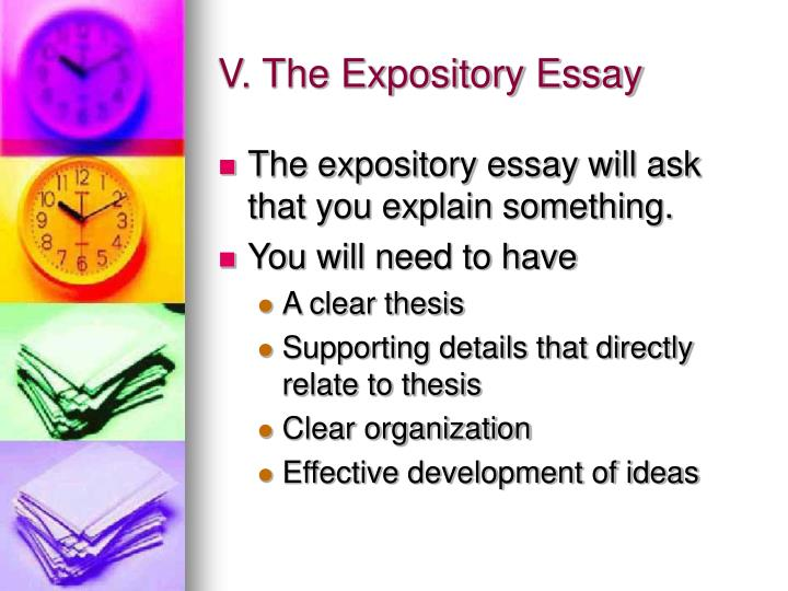 V. The Expository Essay