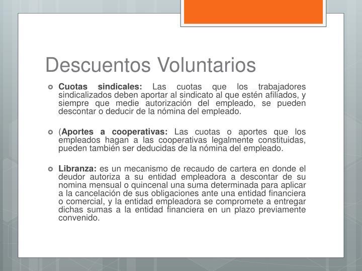 Descuentos Voluntarios