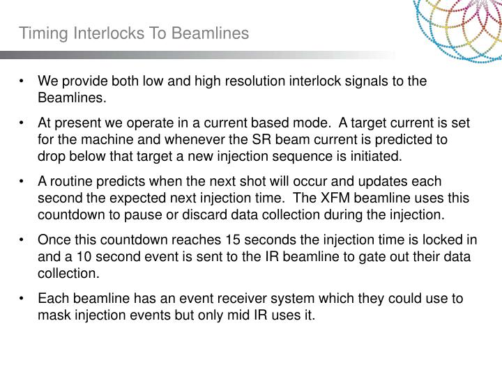 Timing Interlocks To