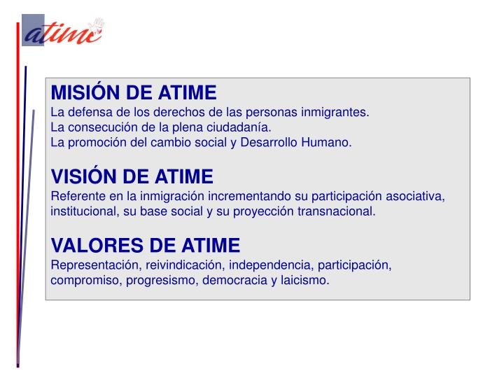 MISIÓN DE ATIME