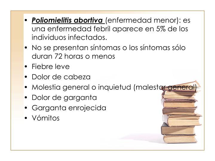 Poliomielitis abortiva
