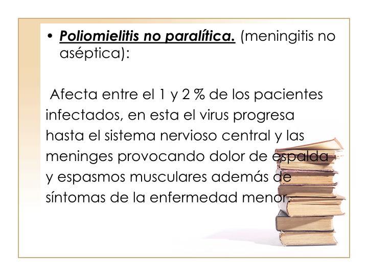 Poliomielitis no paraltica.