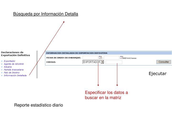 Búsqueda por Información Detalla