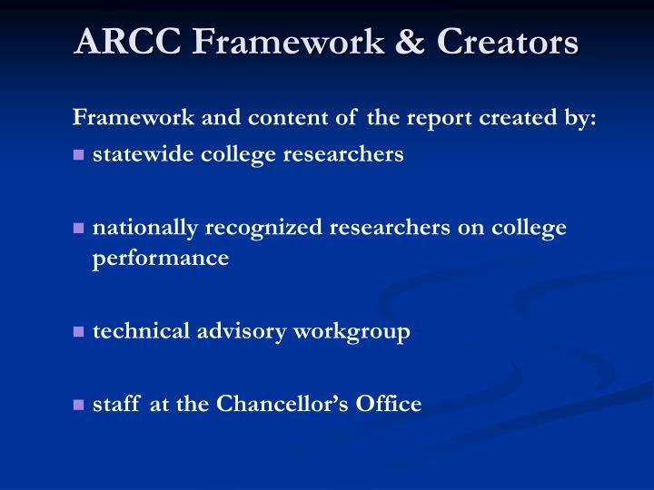 ARCC Framework & Creators
