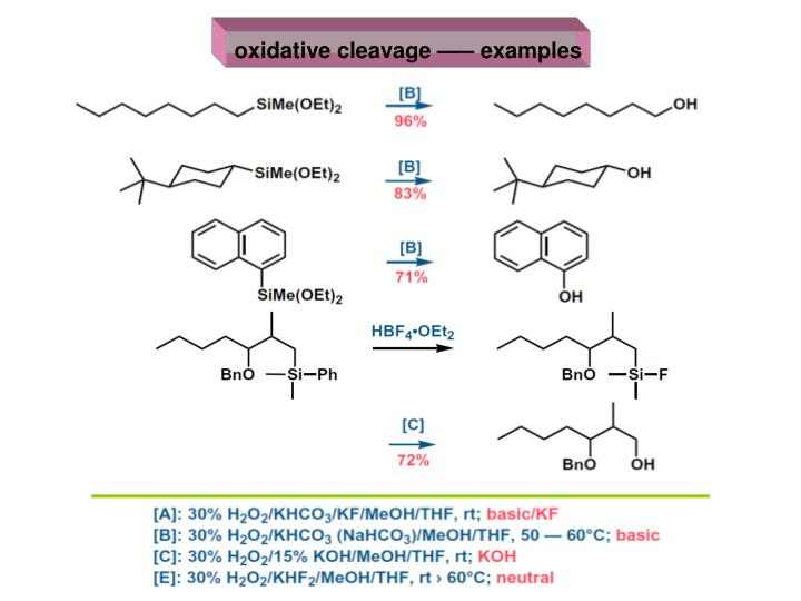 oxidative cleavage ––– examples