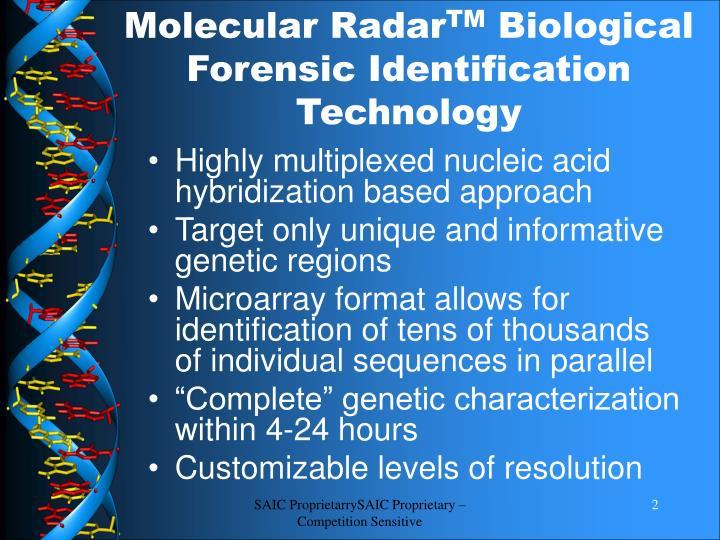 Molecular Radar