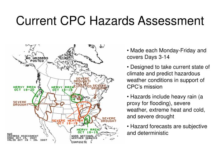 Current cpc hazards assessment
