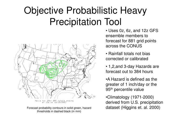 Objective Probabilistic Heavy Precipitation Tool